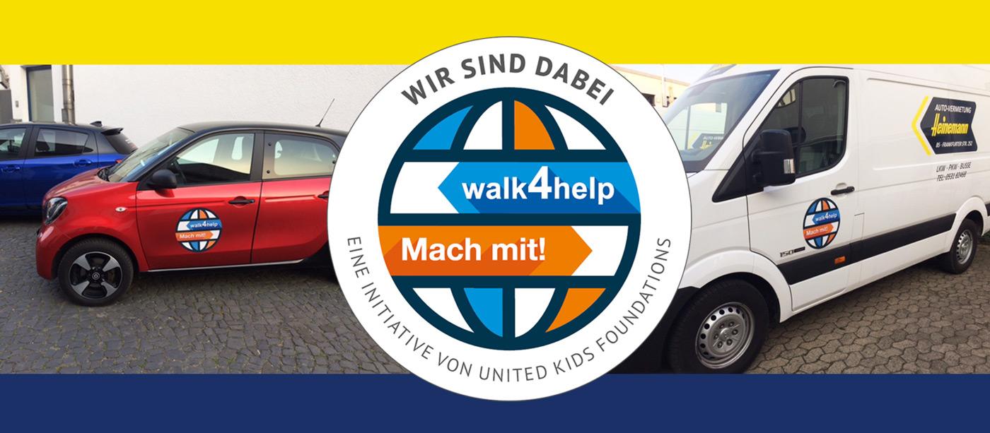 Autovermietung Heinemann aus Braunschweig unterstützt den walk4help!